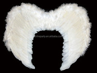 White feather costume wings