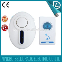 OEM/ODM acceptable 32 melodies 315MHZ digital wireless smart door chime with 100m working distance