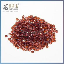 4*6 Hot Sale Natural Stone pear Cut Garnet Red Mozambique Garnet