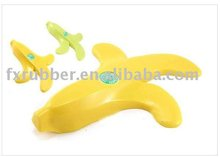 Lovely Design Yellow Color Banana Shape Silicone Door Stopper