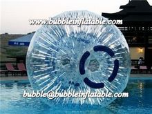 Transparent inflatable grass zorb ball, 0.8MM PVC/TPU material high water zorb quality for sale