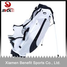 White nylon golf stand bag with new design