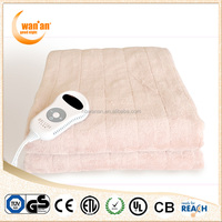 Wholesale Supplier Washable Coral Fleece Electric Blanket With Factory Price