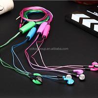 light earbuds 3.5mm stereo EL light bassbuds earbuds, Glowing flash micro earphone