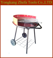 Four Legs Windproof Promotion Simple Design BBQ Grill with trolley