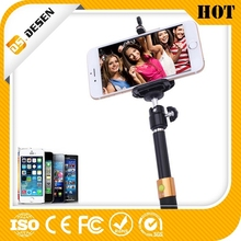 Handheld Monopod extendable fashionable design selfie stick with cable