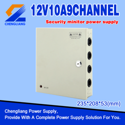 9 Channel CCTV Power supply 10A 12V 120W with CE FCC ROHS