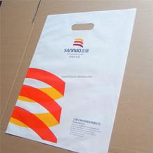 custom printed die cut handle plastic shoe bag for shopping