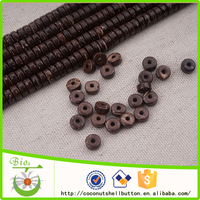 fashion jewelry DIY natural coconut 6*3 mm loose beads for diy jewellery