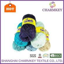 For knitting fancy yarn New metallic acryllic blended yarn wholesale
