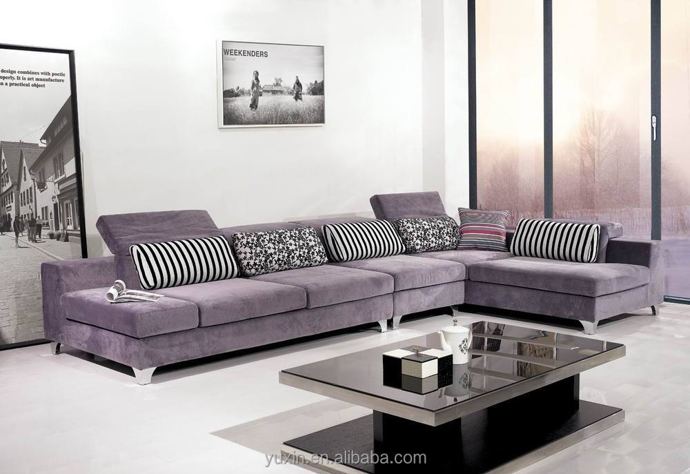 New Arrival modern living room wooden furniture/corner sofa set ...
