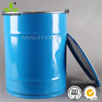 wholesale of 50L empty conical steel drum with lid and lock ring for chemical use