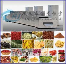 microondas el secador del túnel para la alimentación y el secado de frutas