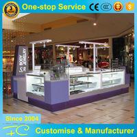 Retail used jewelry display cases with glass potable jewelry display showcase