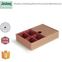 Faux leather jewelry organizer box