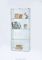 Fantastic wooden kitchen glass display cabinet design