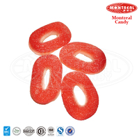 Colorful ring sour jelly candy