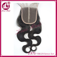 Reliable quality accept paying brazilia hair black beauty elements middle part body wave lace closure common wanted lace closure