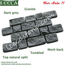 Granite interlock mesh paving stone 70x40cm | granite cobblestone paver driveway interlocking paving block