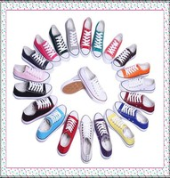 2015 Cheap Price Colourful Unisex Brand Name Canvas Shoes Wenzhou Produce
