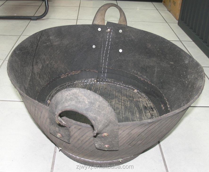 Reciclado cubo de goma, Artesanías, Neumático del neumático de goma cesta