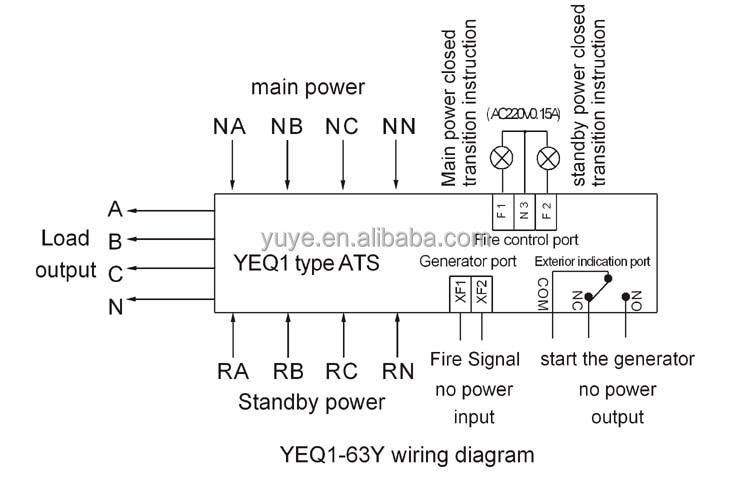 circuit diagram of auto transfer switch