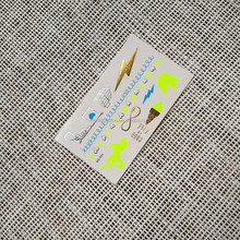 Life is good Neon small size metallic gold foil temporary tattoo
