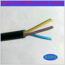high quality 3 *0.5 sq mm black electric cable