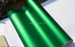 High auto green satin chrome film promotional 1.52*20M matte chrome vinyl wrap for auto body