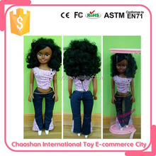 Big Plastic Type Silicone Black Baby Doll For Sale