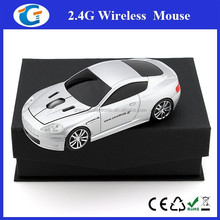 Corporate give away sport car shape auto wireless optical mouse 2.4Ghz
