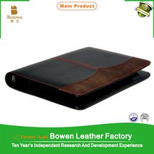 2015 a5 note pad refill leather diary with business card pocket