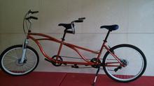 26 inch aluminum Alloy frame disc/V brake adult Tandem bike