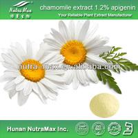 GMP Standard Manufacturer Supply Chamomile Extract,Chamomile p.e. Apigenin 1.2%, 2%, 10%, 98%