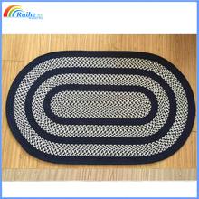 ringed coiled handmade rug, crochet rug