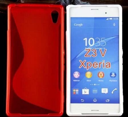Mejor precio S-Línea gel TPU Funda cubierta para Sony Xperia Z3 V Colores mixtos