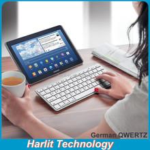 German QWERTZ Tablet Bluetoot h Keyboard For Samsung Galaxy Note Bluetooth Keyboard For Galaxy Note 10.1 White Color