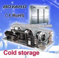 boyard Manufacture cold room for meat ,fish, chicken, vegetables and fruits with pu sandwich panel and condensing unit