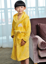 Western 100% cotton hotel kids long gown with embroidery