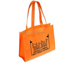 China Made Cheap Orange Tropic Tote Bag