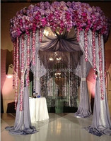 European mushroom style Wedding Backdrop Stage Curtains Wedding Decoration
