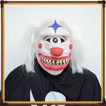 مصنع dx-mk-0720 الفم وجهه لاتكس أقنعة الرعب قناع مع الشعر