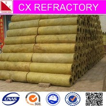 Heat resistant rock wool tube for pipe insulation