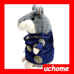 UCHOME Novelty Chinese Costume Talking Hamster Lovely Voice Recording Plush Toys
