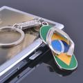 Promotionnel flip flops trousseau métal slipper porte-clés pour cadeau
