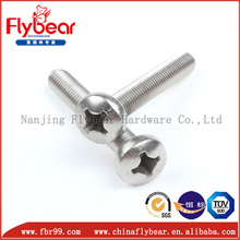 China alibaba manufacturing ss pan head screws with cross drive M3