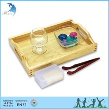 Chinese supply kids non-toxic wooden kindergarten practical life promotion montessori material