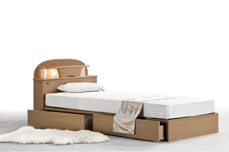 Single bed simple designs for Simple wooden bed designs pictures