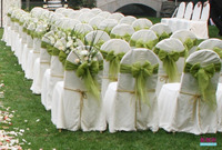 2015 Wholesale Cheap Organza Lace Chair Covers Sashes