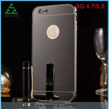 Sliding Aluminum Case For iPhone 6 Plus, Mirror Phone Metal Case For iPhone 6 Plus, For iPhone 6 Plus Electronic Plated Case
